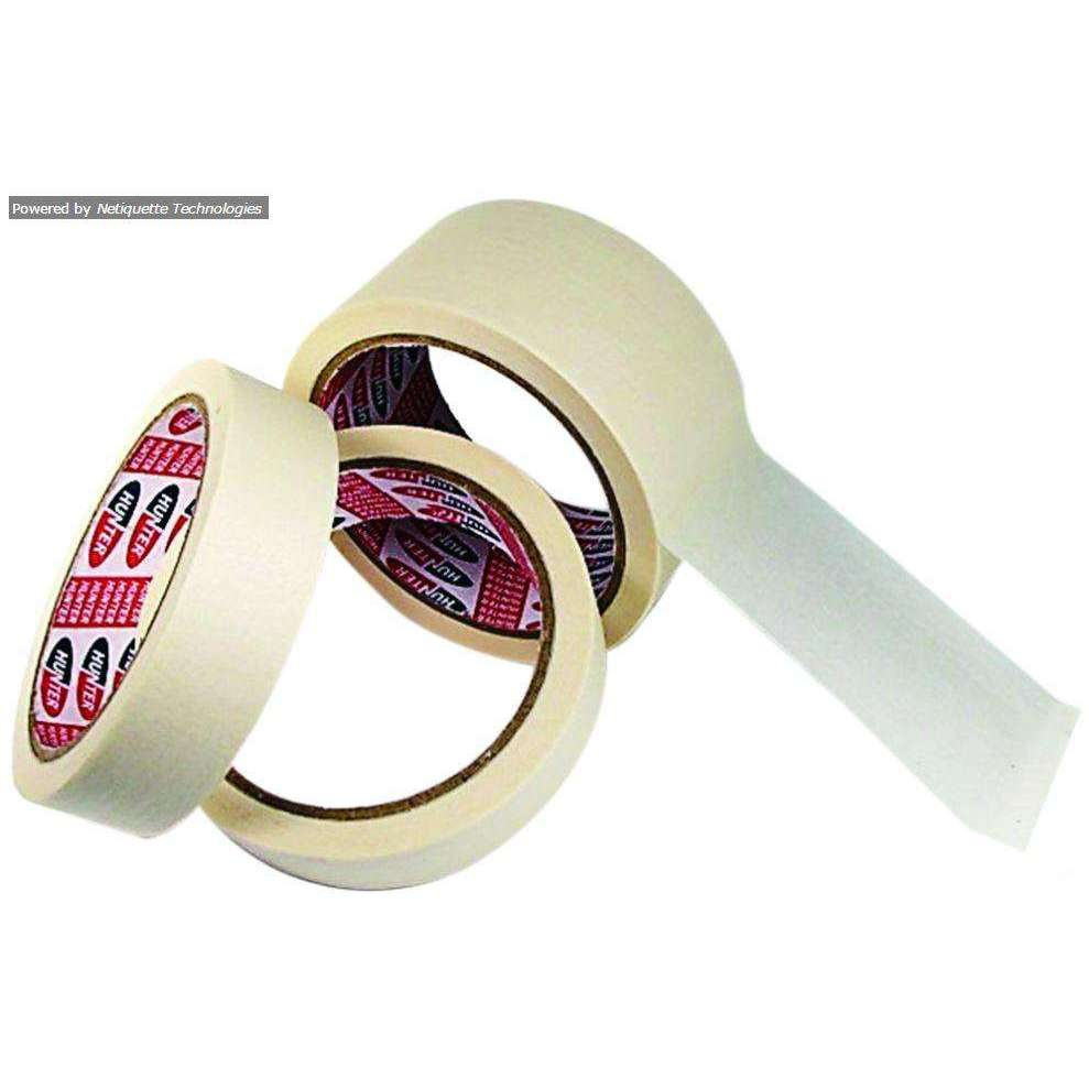 HUNTER MASKING TAPE 22YDS X 72MM, 72ROLL/CTN, 12RLS/TUBE