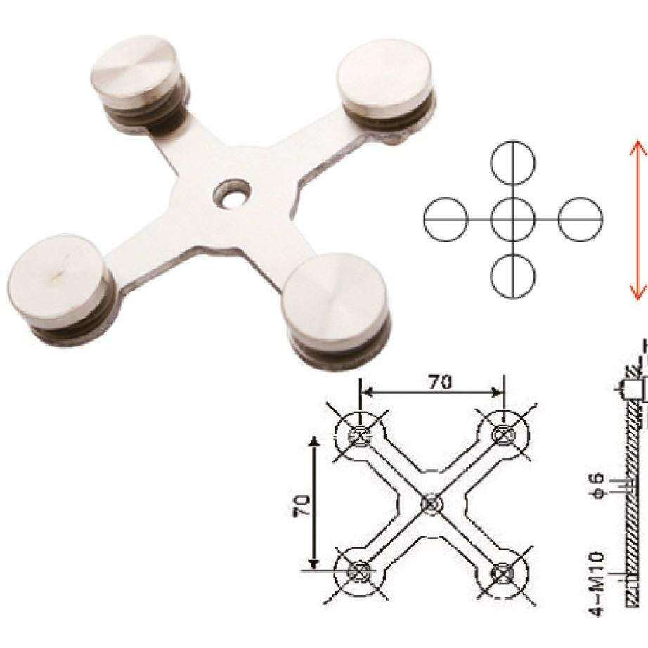 IREX GLASS BRACKET - CROSS