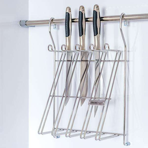 ITALIAN Series Sus304 Knife Holder Rack W/Hanging