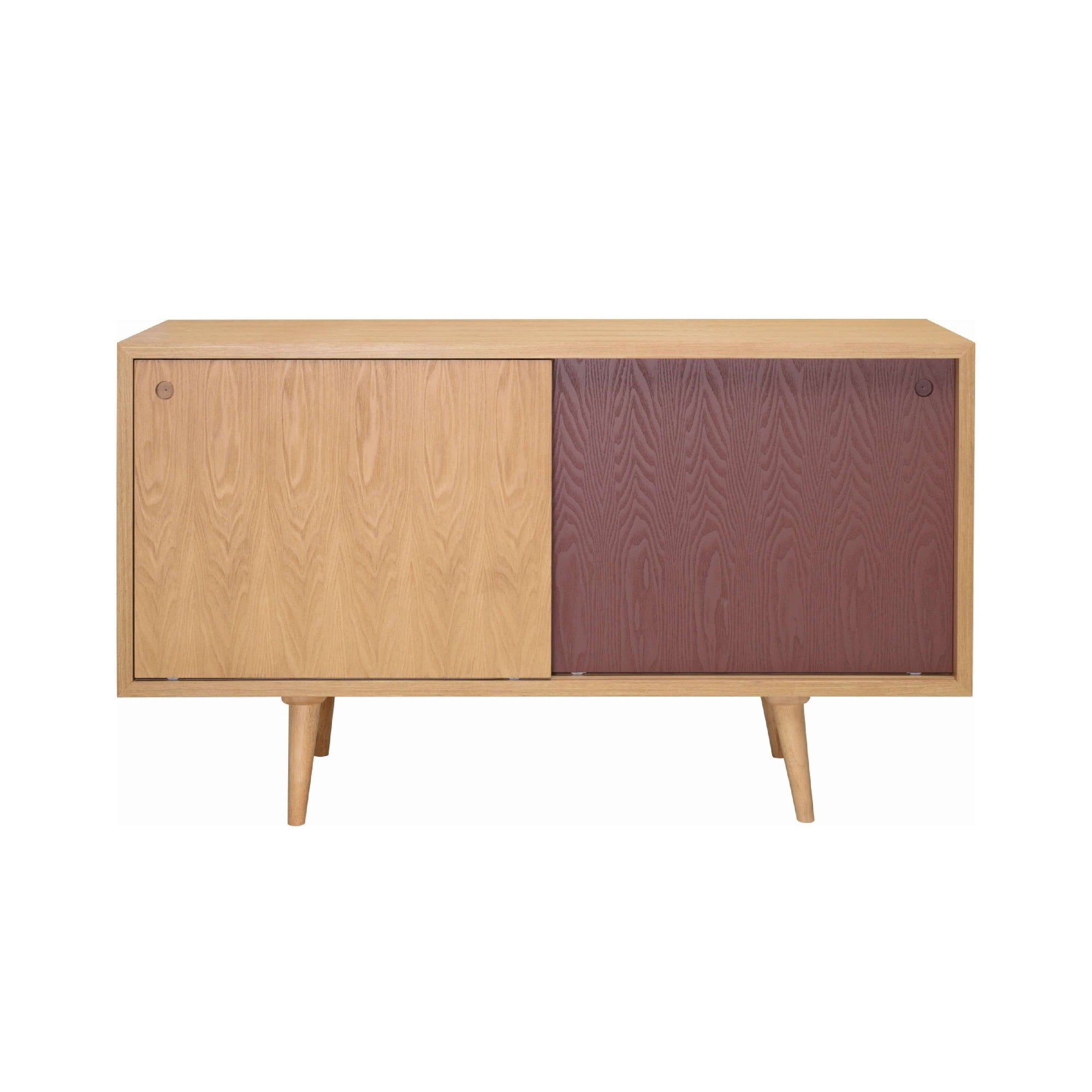 LOCKE Sideboard On Natural Colour Body, Natural And Penny Brown Colour Door