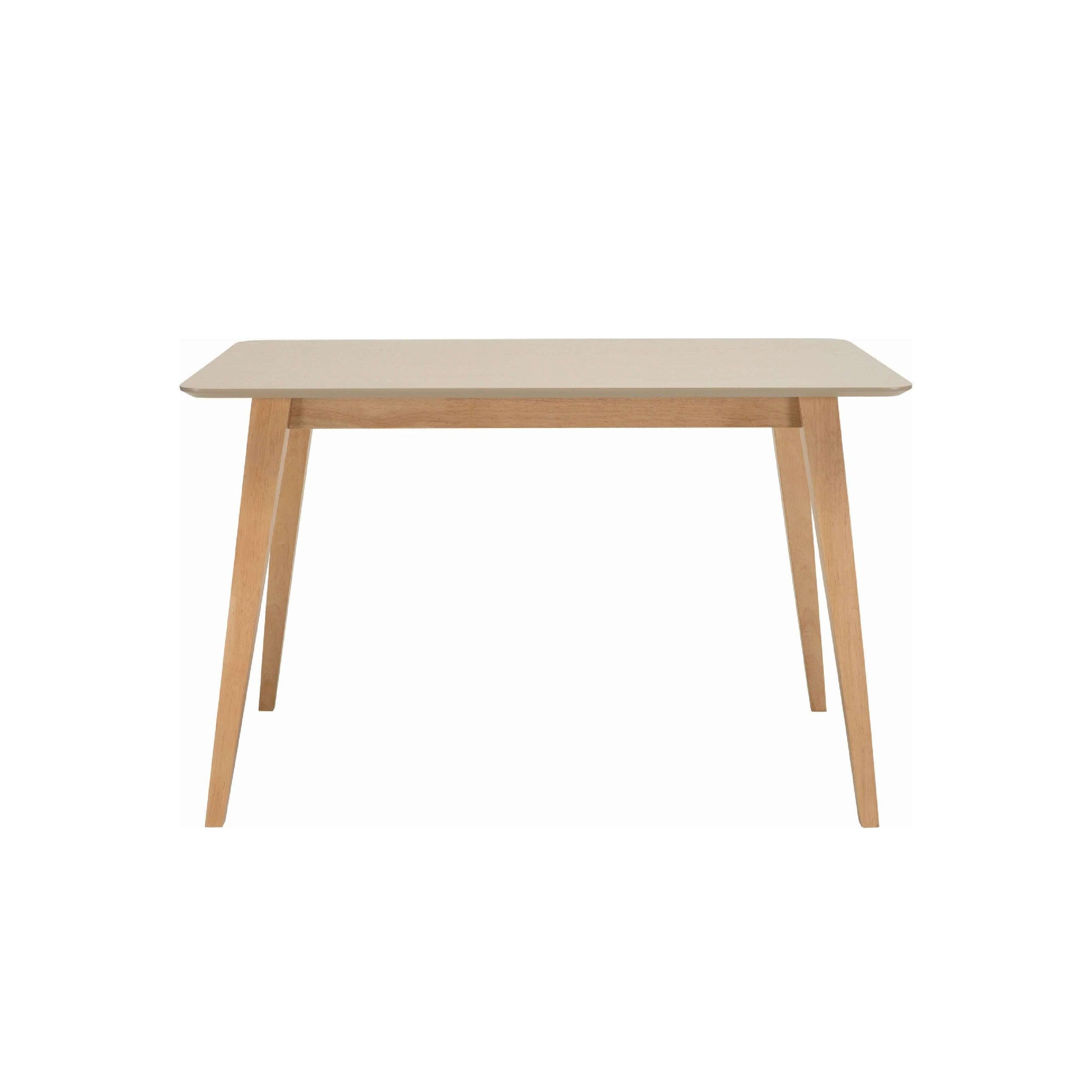 PLATON 1.2m Dining Table In Natural Colour Leg, Taupe Grey Colour Top
