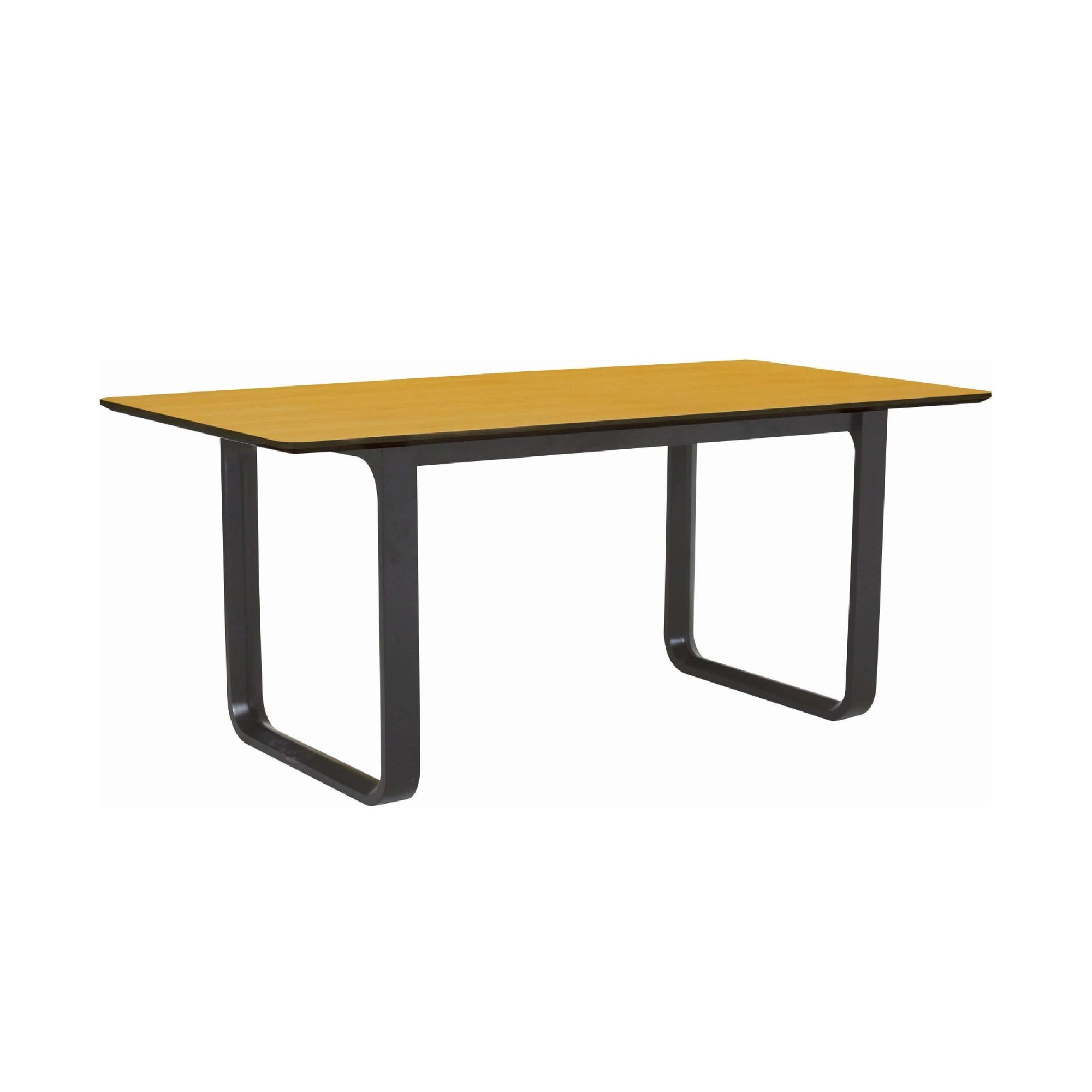 ULMER 1.8m Dining Table In Black Colour Leg, Oak Laminate Top