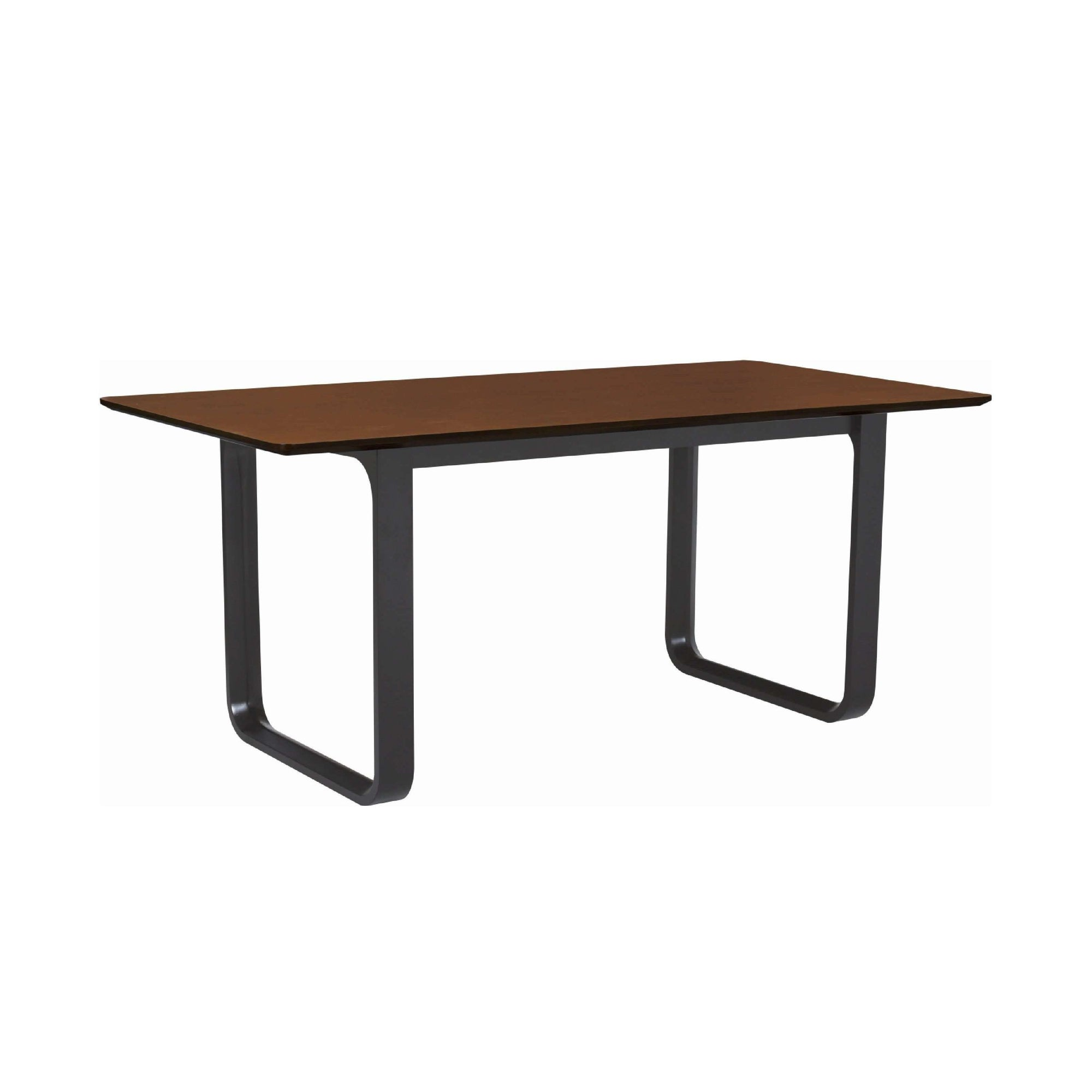 ULMER 1.8m Dining Table in Black colour leg, Walnut Laminate Top