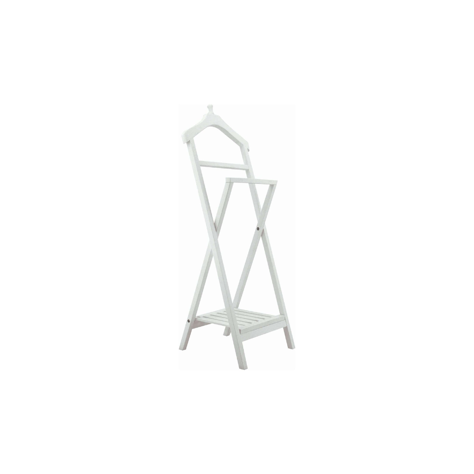 XAVIER 3 x Cloth Hanger in White Lacquered Colour