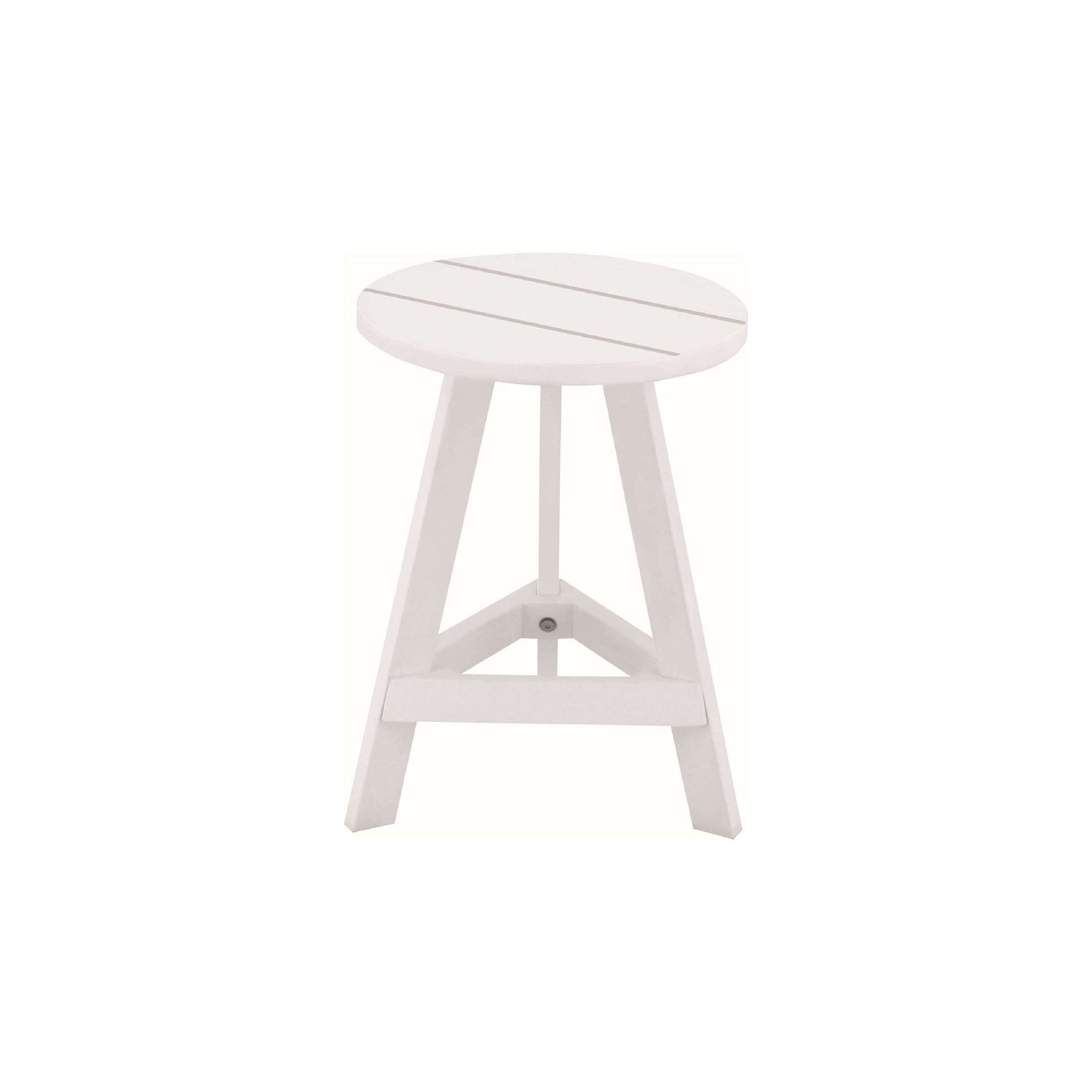 YUMI 4 X Stool in White Lacquered
