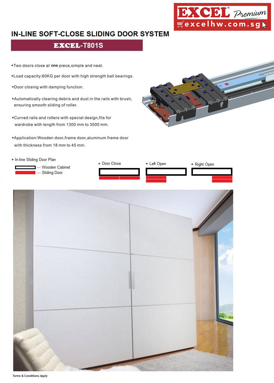 EXCEL-AMANZIO-IN-LINE SLIDING DOOR SYSTEM