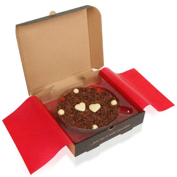 Lovers Chocolate Pizza - 7 Inch