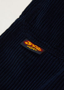 "179 Pipes. 23"". 4 Wale Corduroy. Navy."