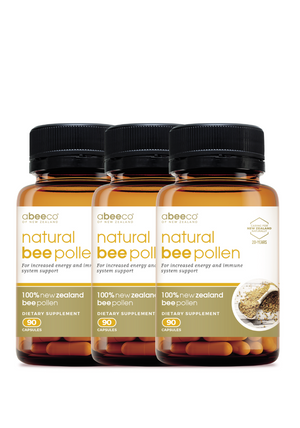NZ Natural Bee Pollen - 3 Pack Supplements & Vitamins by abeeco