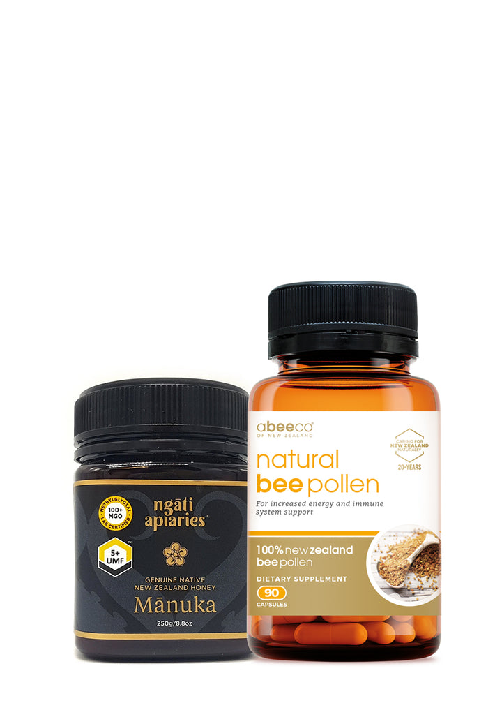 5+ UMF Manuka Honey  & Bee Pollen Combo  by abeeco