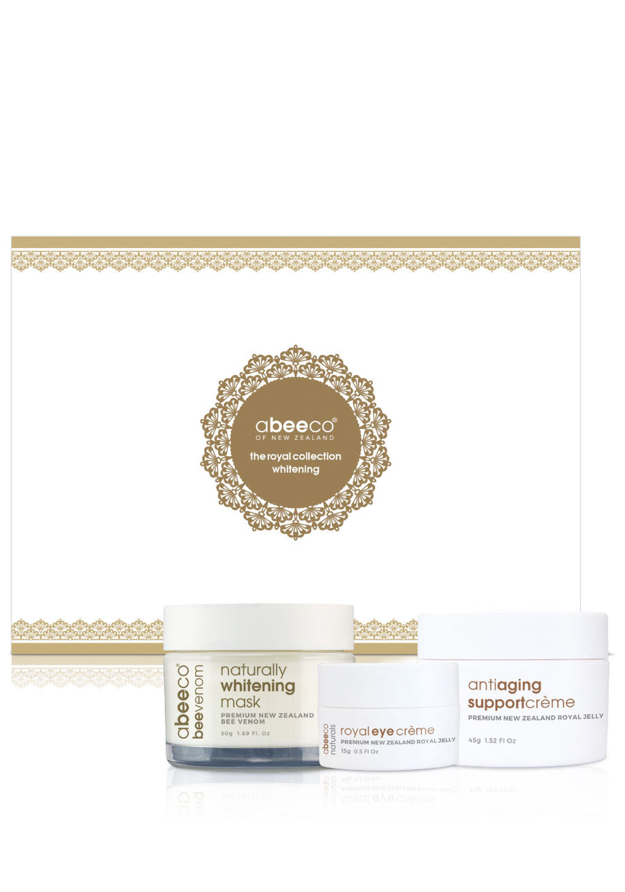 Royal Collection Gift Box by abeeco - beautiful skin with royal eye cream, whitening mask and anti ageing support cream