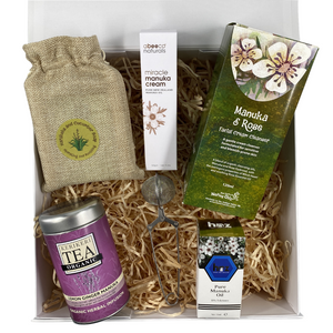 Vegan Gift Basket Supplements & Vitamins by The Honey Collection