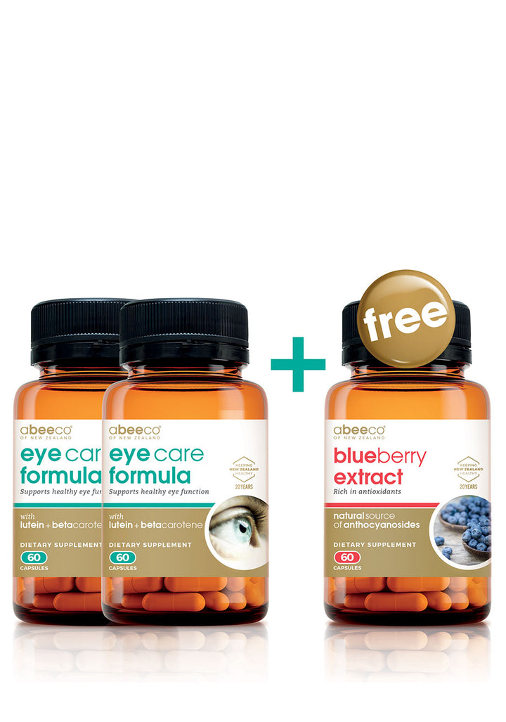 Eye Care Formula MultiPack - Buy 2 get a FREE bottle Blueberry Extract! Supplements & Vitamins by abeeco