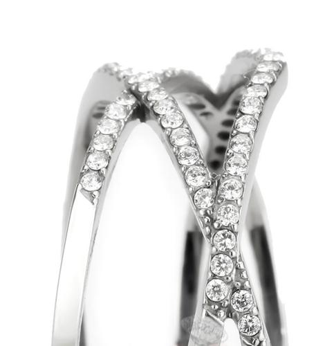 Stainless Steel Triple A CZ Ring