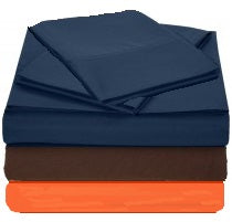 T130 Pillowcases in multiple colors folded and stacked.