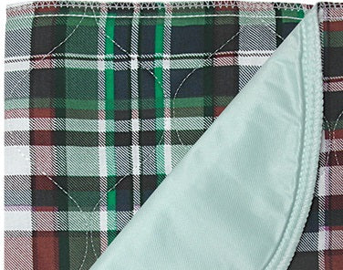 Highland Blue Plaid Quilted Underpad