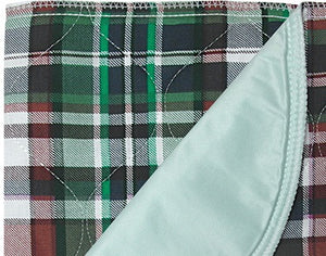 Underpad, Highland Blue Plaid, Quilted