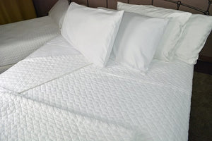 "Quilted Impressions Double Diamond Coverlet, 96"" x 98"""