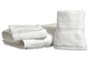 White Royal Suite by Thomaston Mills Washcloth with Dobby Border