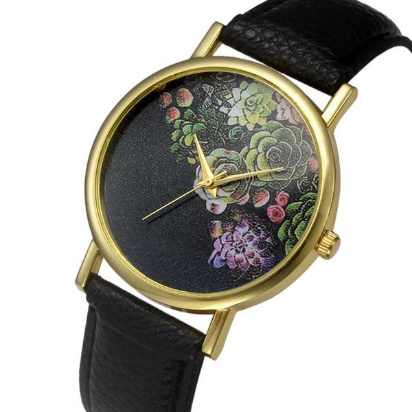 Relojes mujer 2017 Fashion erkek saat Quartz Watch Women Girl Retro PU Leather Band Quartz Wrist Watches watch women #719