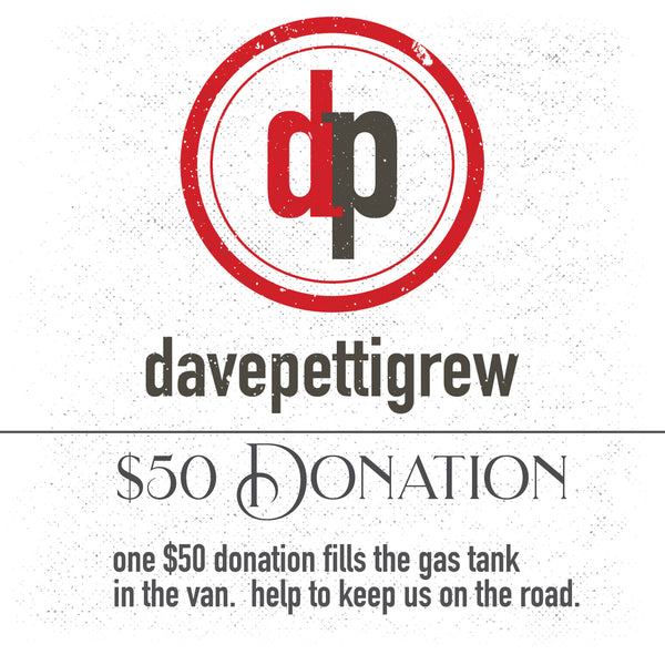 $50 donation - Fill the tank in the van!