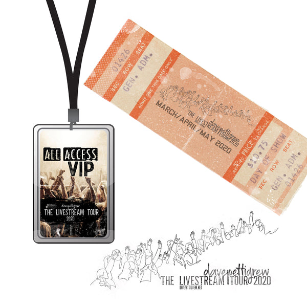 The Livestream Tour 2020 - Ticket and VIP Lanyard
