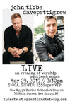 TICKET - MAY 29 - davepettigrew w/ John Tibbs - LIVE - an evening of acoustic stories & songs