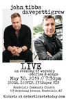 TICKET - MAY 30 - davepettigrew w/ John Tibbs - LIVE - an evening of acoustic stories & songs