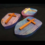 "Cross Collection - ""Author of Life"" Handmade Wooden Cross"