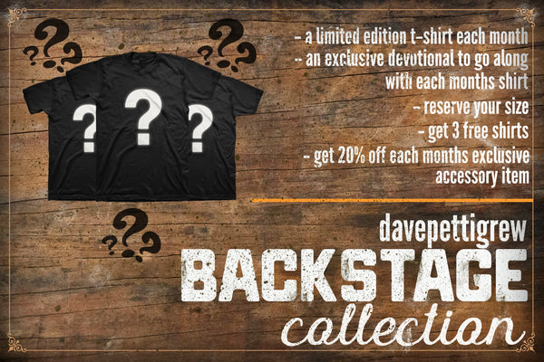 davepettigrew BACKSTAGE collection - Early Bird Price!
