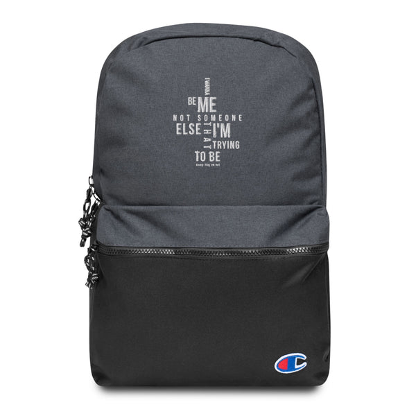 "The ""Me"" Embroidered Champion Backpack"
