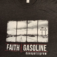 Faith And Gasoline - Vintage Heather Black T-Shirt