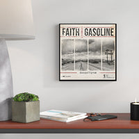 """Faith and Gasoline"" Aluminum Sign - Backstage Collection (Limited Edition)"