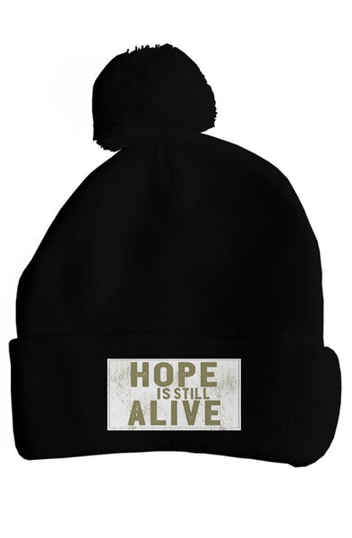 Hope Is Still Alive Pom Pom Winter Hat