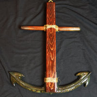 "Cross Collection - ""Hope"" Large Handmade Wooden Anchor"