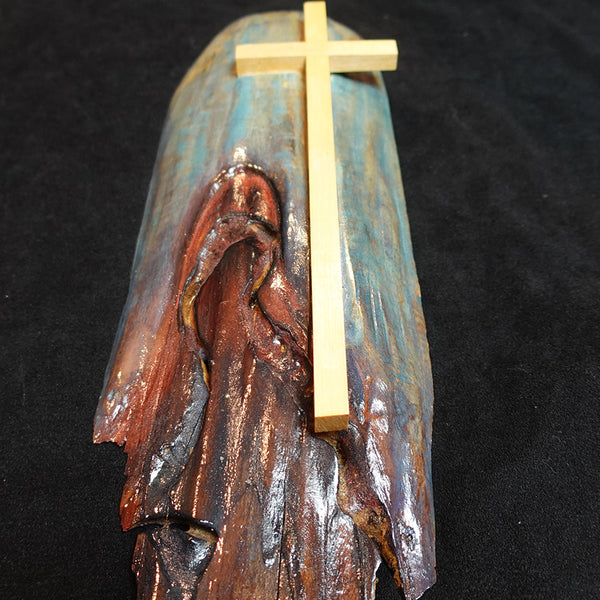 "Cross Collection - ""Mary"" Handmade Wooden Cross"