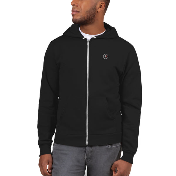 dp logo zip hooded sweatshirt