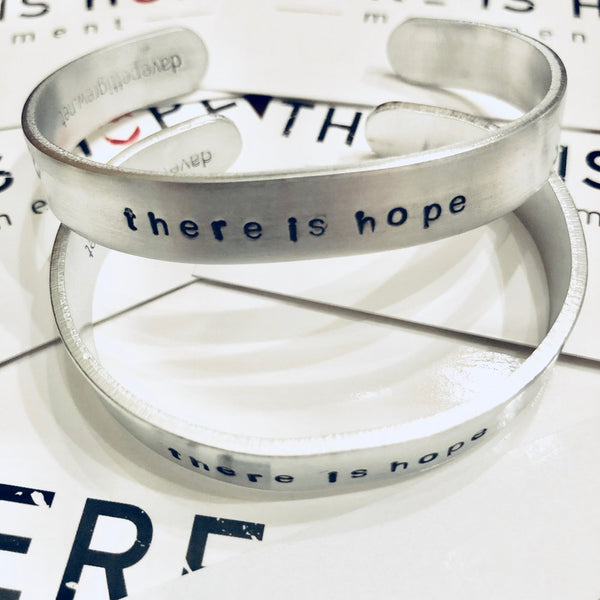 THERE IS HOPE - Personalized Aluminum bracelet