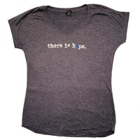 THERE IS HOPE - Ladies - Steel Blue V-Neck T-Shirt