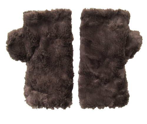 Brown Faux Fur Mittens