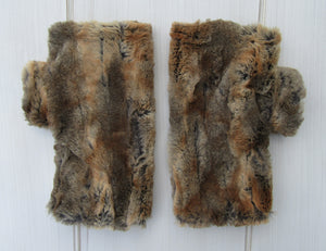 Red Fox Faux Fur Mittens
