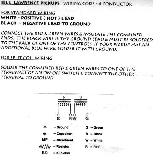 Bill Lawrence Wiring Color Code - Wiring Diagram Save on