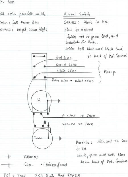[SCHEMATICS_4UK]  P-Bass Wiring Diagram – Bill and Becky Wilde Pickups | Bill Lawrence Wiring Diagrams |  | Wilde Pickups