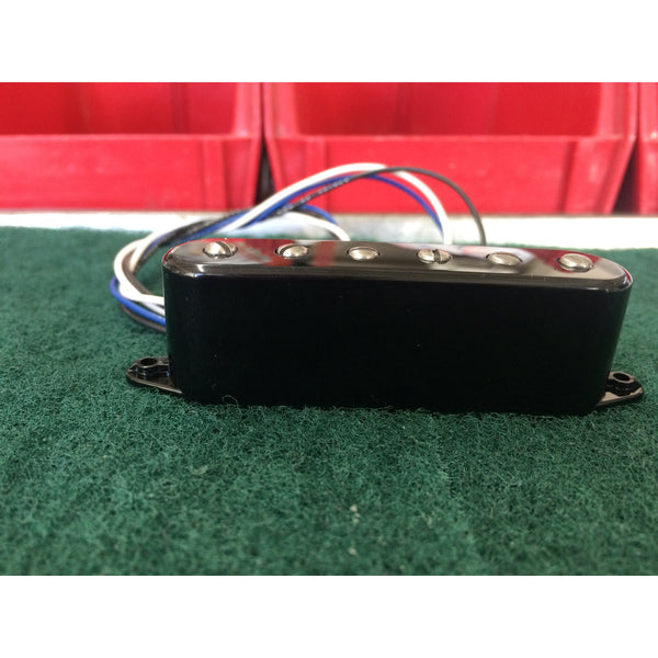 Microcoil T neck Pickup with adjustable pole pieces- black cover