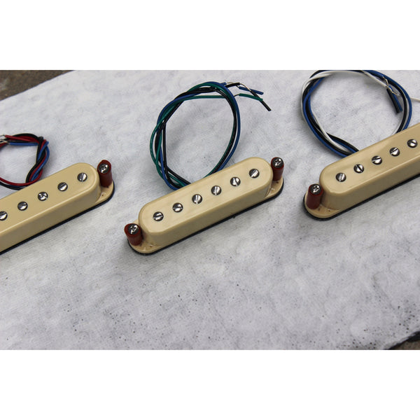 Micro-Coil S Set of Three: Cream covers with adjustable pole piecess