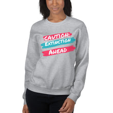Load image into Gallery viewer, Caution Extinction Unisex Sweatshirt