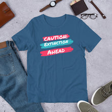 Load image into Gallery viewer, Caution Extinction Unisex T-Shirt