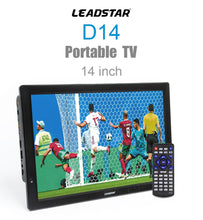 Load image into Gallery viewer, LEADSTAR D14 14 inch HD Portable TV DVB-T2 ATSC Digital Analog Television Mini Small Car TV Support MP4 AC3 HDMI Monitor for PS4