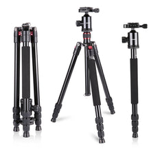 Load image into Gallery viewer, Aluminum Alloy 64 inches/162 cm Camera Travel Tripod Monopod with 360 Degree Ball Head,1/4 inch Quick Shoe Plate
