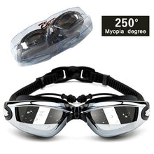Load image into Gallery viewer, Myopia Swim Goggles Set with  Anti Fog & UV Protection